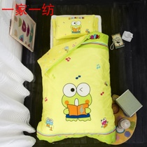 Nursery Quilt 36 pieces of pure cotton containing core small frog quilt cover spring and Autumn children cartoon bedding nap