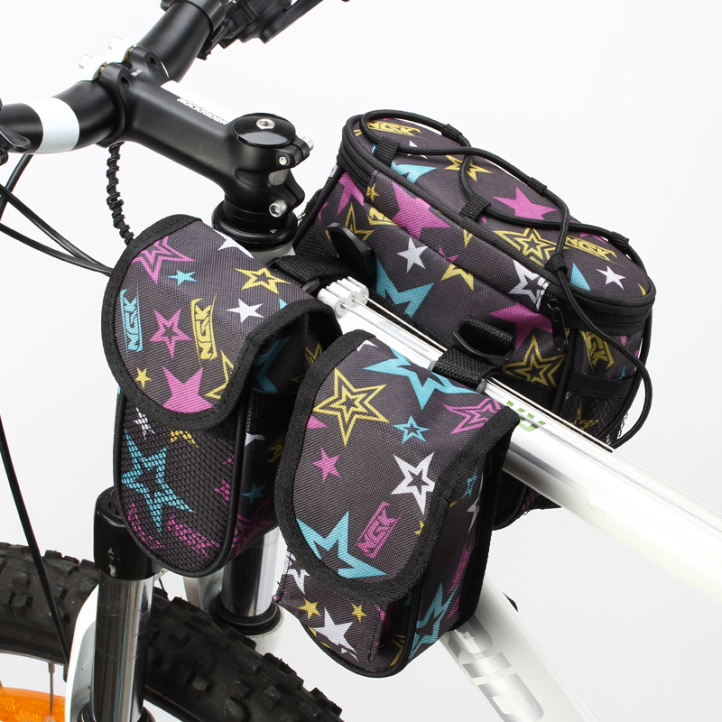 Bicycle bag, four-in-one bag, upper tube bag, mountain bike beam bag, rain cover, bicycle spare parts
