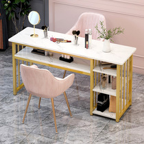 ins net red nail table Special price Economy nail shop table and chair set Japanese light luxury double nail table
