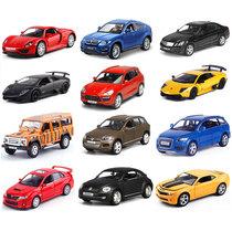 Alloy car model Set simulation mini 1:64 pocket childrens toy car metal back door iron