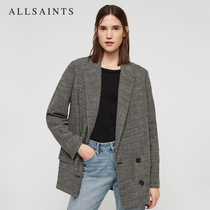 AllSaints Ms. Helei plaid suit 2019 spring and summer new fashion trend generous coat WT024Q