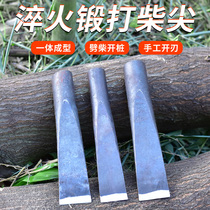 All-steel crackling artifact outdoor forging large wood tip pure steel split hand-edged axe home cracking tools