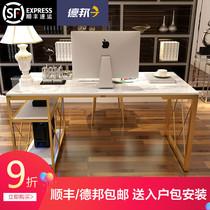 Скандинавская современная роскошь мрамор настольный компьютерный стол домашний кабинет спальня из массива дерева стол может быть настроен