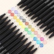 Цветные крючки и карандаши для студентов с художественными штрихами черные дети живопись маслом водонепроницаемый костюм акварель живопись специальный