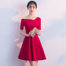 Banquet Korean version of the birthday party small dress