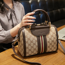 Boston Women's Bag with Single Shoulder and Slant Hand-held Baitie Summer Pillow Bag in New Korean Version of Boston Women's Bag in 2019