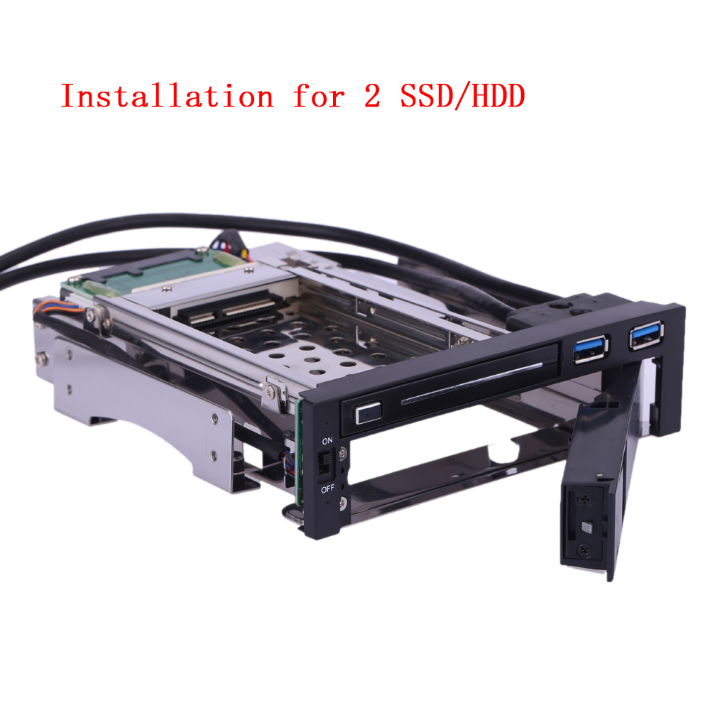 "[The goods stop production and no stock]2.5 hard drive, Dual Bay 3.5"" + 2.5"" Inch USB 3.0 external hard drive enclos"