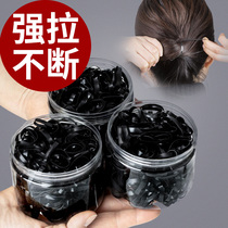 Rubber band women tie hair thick thick Hairband disposable high elastic durable black rubber ring small head rope adult