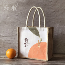 Cute hand-held when the bag tote when the bag office workers waterproof lunch with rice bag Japanese-style with pull-up meal bag