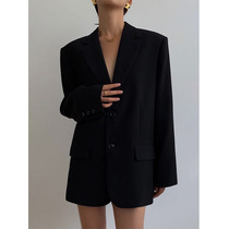High end station black blazer women 2021 Spring and Autumn New Korean loose retro casual slim small suit