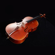 Handmade solid wood cello senior beginner playing cello instrument tiger pattern back plate cello