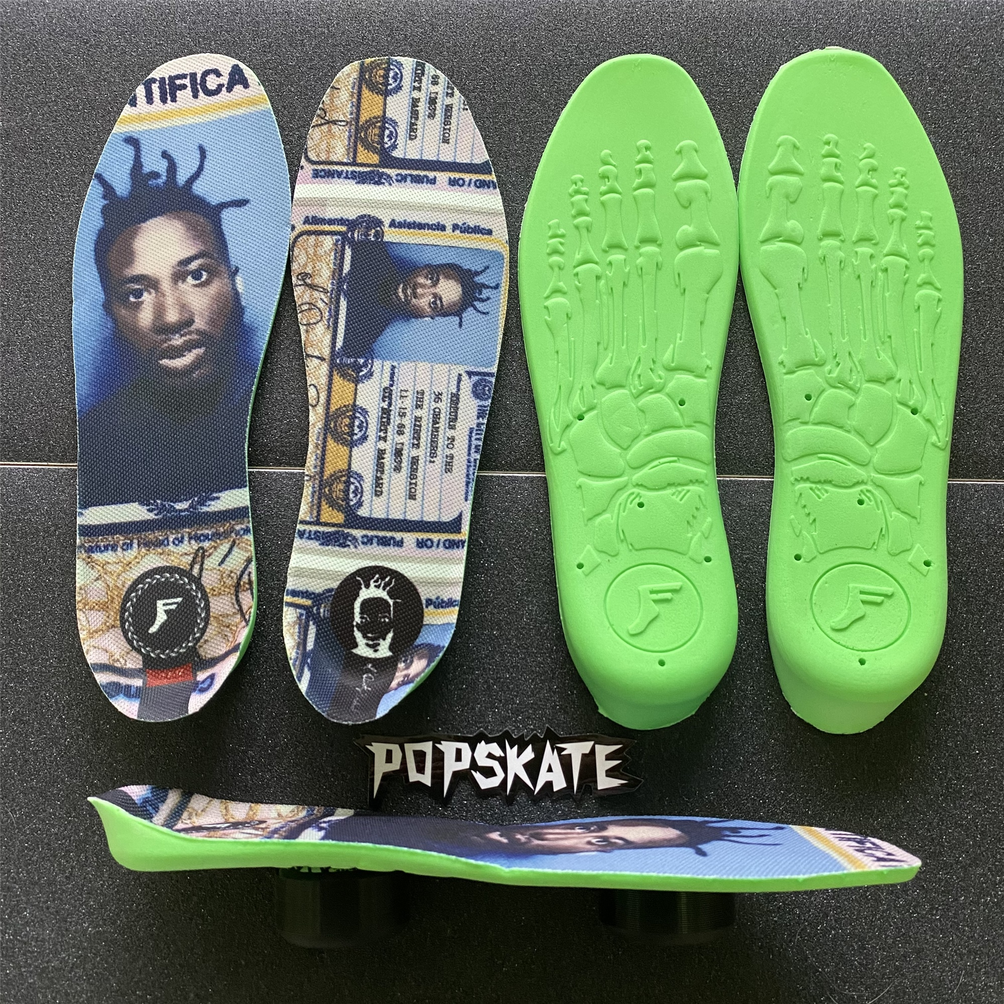 The new infusion FP insole Footprint skateboard extreme sneaker pad professional shock absorbers protect the knee