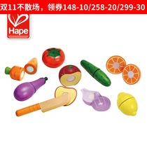 Hape Baby cut fruit toy fruit cut look at toy childrens cutting vegetable vegetables