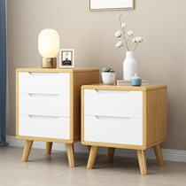 Full solid wood bedside table Nordic simple modern bedroom locker complete 35cm 40cm 45 mini small cabinet