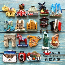 Countries around the world refrigerator stickers abroad attractions around the creative three-dimensional 3d decorative magnetic stickers travel Japanese-style Thailand travel