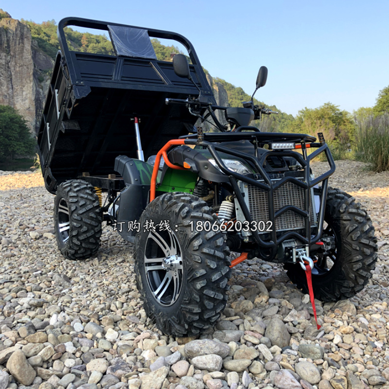 Four-wheel drive farmer car big bull beach car with tow Zongshen 300 water-cooled off-road mountain motorcycle shaft drive