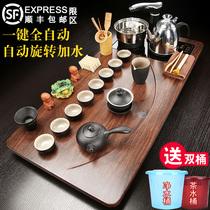 Solid wood tea tray Automatic tea set Household living room Kung Fu tea table Complete set of office integrated tea sea large