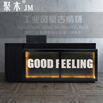 Retro industrial style Cashier Clothing shop Counter Small gym Internet cafe Bar Counter Front desk Corner