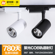 COB TRACK LAMP LED Spotlight 7W12W20W30 Tile rail lamp clothing store background Wall Showroom window slide