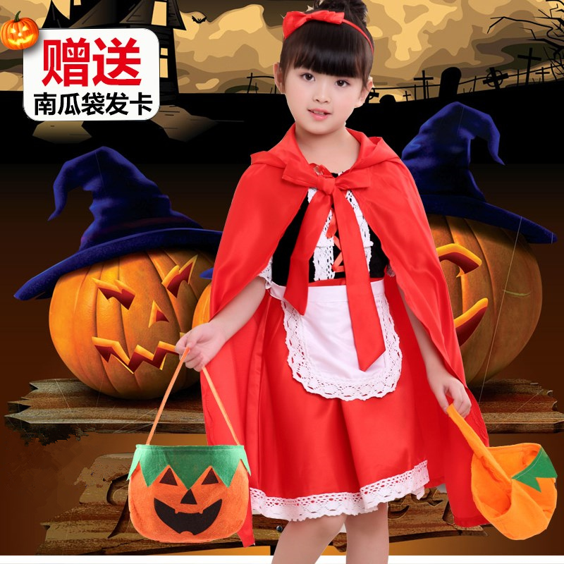 Cosplay Clothes,Halloween Clothes,Halloween Children's Costumes Masquerade Girls Baby Cosplay Little Red Riding Hood Cosplay Outfit Show