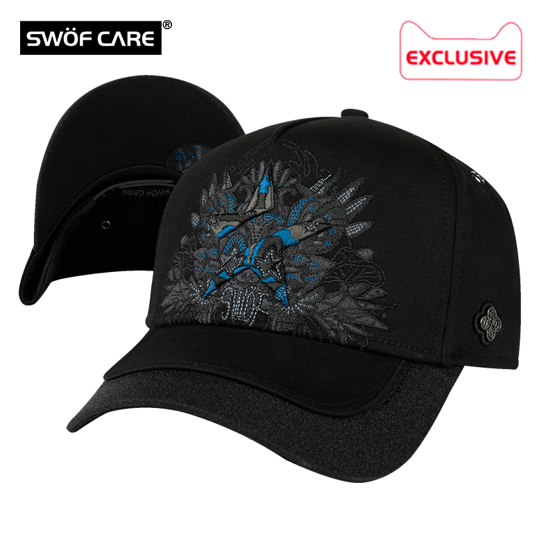 SWOFCARE Swofford Super Rat Five Corners Star 3D embroidered fashion trend mens and womens sports cap baseball sun hat