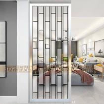 Art verre salon Écran partition entrée décoration moderne simple cabinet en verre translucide givré porche grille
