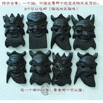 Special Price Guizhou Anshun specialty Pure handmade wood carving nuo noodle Play mask evil decoration 12*18cm