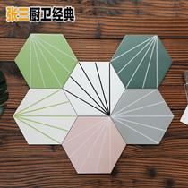 Simple light and luxury ray hexagonal brick kitchen bathroom color Hexagon tile restaurant bar Wall Tile Balcony Tiles