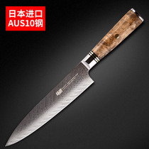 Japan imported AUS10 Damascus Steel professional chef knife Western chef knife Western chef knife knife