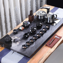 The whole set of Wu Jinshi tea set Household Kung Fu tea tray Living room simple purple sand atomized water tea table automatic