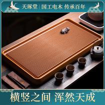 高端电木茶盘德国家用实木功夫茶具套装全自动一体小型茶台排水式