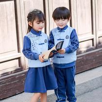 Детский сад одежда весна и осень одежда Национальная школа китайский китайский ветер детский класс одежда национальный стиль школьная форма Ханчжоу