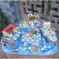 。 Early education model Sky City Plants vs. Zombie Jigsaw Puzzles paper collage wood gift pirate ship