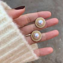 South Korea retro pearl earrings temperament in 2021 new fashion temperament high sense light luxury earrings female French earrings