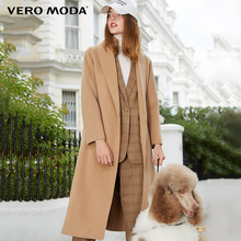 Vero Moda Fall 2019 New Turn-lapel Slim Long Wool Wool Wool Wool Overcoat for Women 319127511