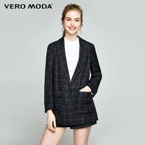 vero moda冬季简约英伦一粒扣休闲西装