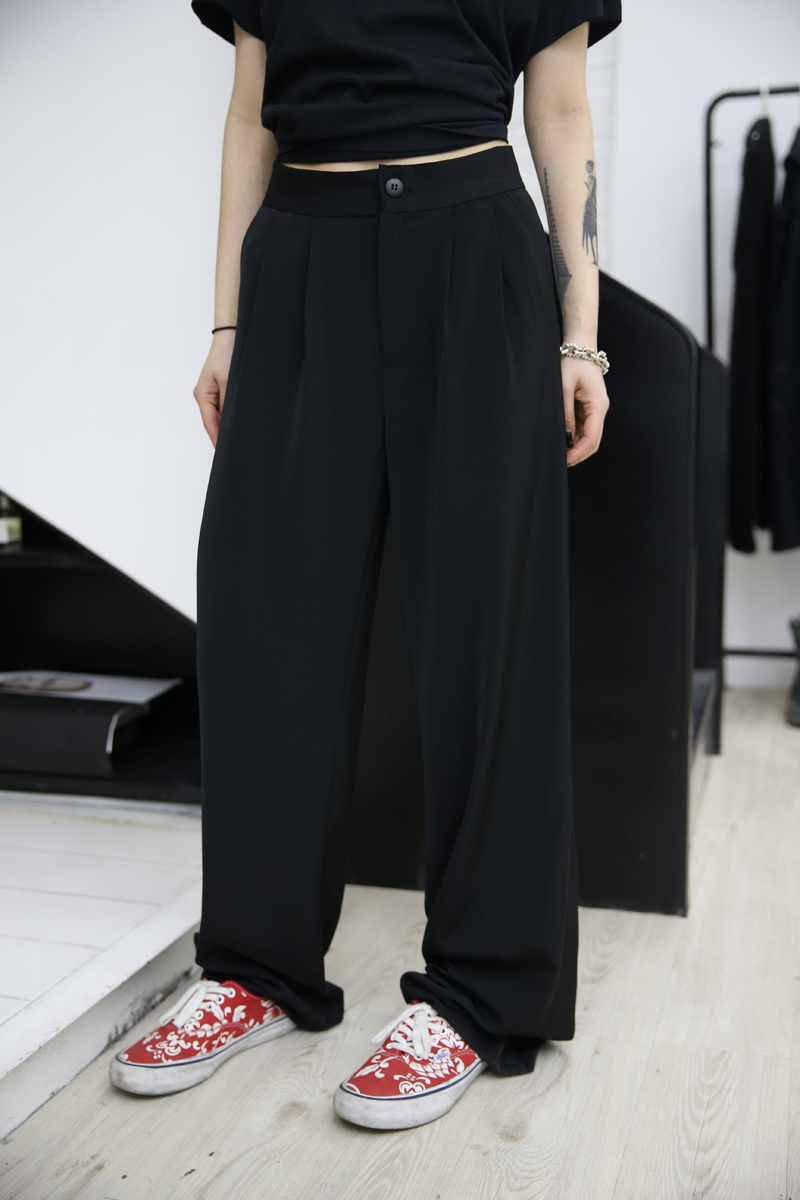 Beauty Fuzzykon black big-name Chic and pants