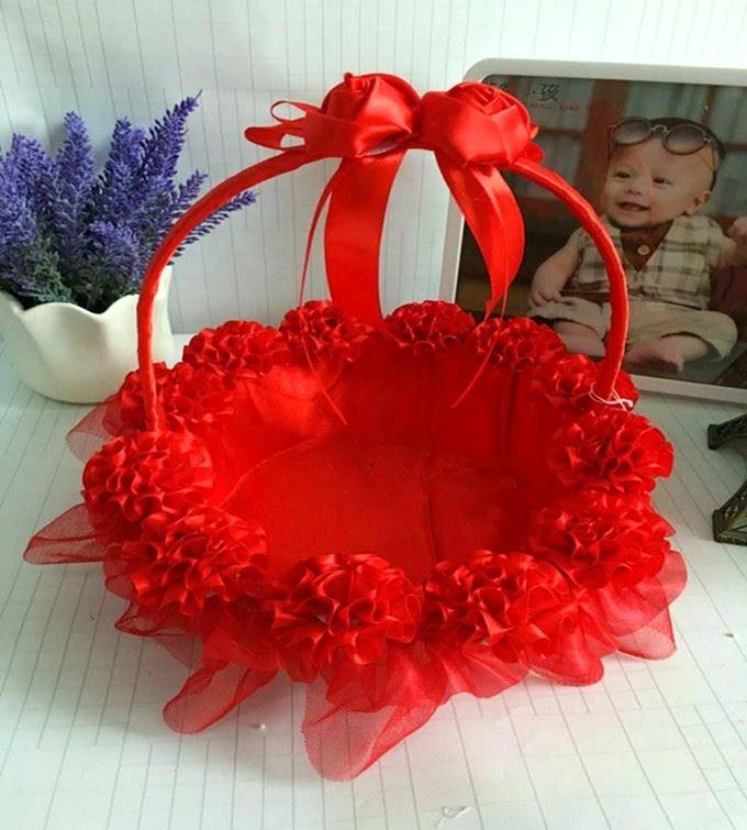 Western-style wedding supplies wedding flower children sprinkled flowers small flower basket petals blue wedding decoration bridesmaid hand basket