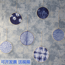 Childrens handcrafted materials wrapped in dyed diy kindergarten cook-free students blue dyed wall decoration set enterprise activities