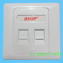 Original genuine ship double-port panel 86 type information panel wall Network panel A160-2