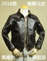 Global production of World War II American A2 flying jacket black brown aniline Mapi tanning leather Stiff talon