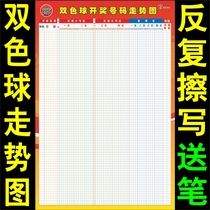 Double Ball Trend Chart table can erase 3D lottery row 35 wall chart sports lottery ticket station Lotto seven music