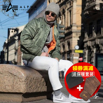 Alpha-alpha Flight jacket MA1 Mens national flag version of warm-padded jacket ma-1 Collar