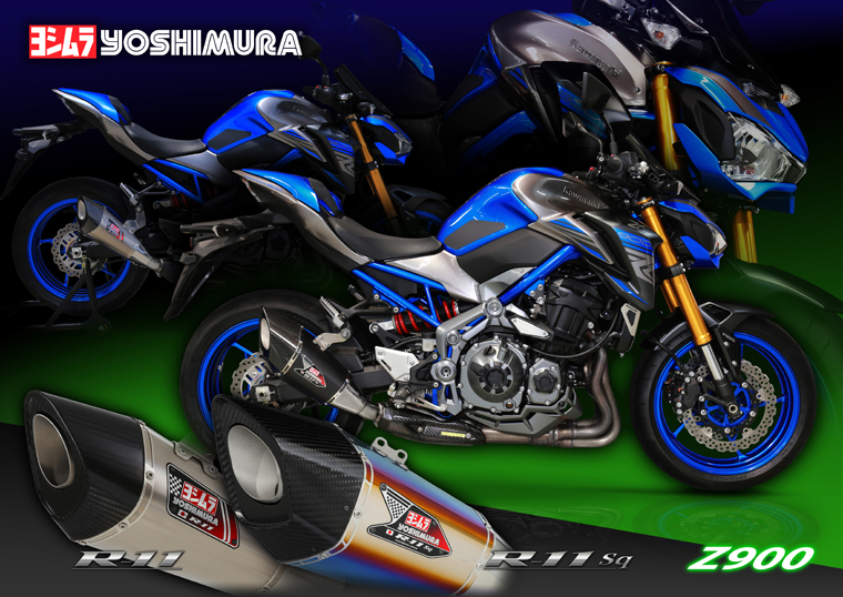Kawasaki Z900 dedicated official authorization for Japan to import Yoshimura R11 modified tail section exhaust pipe