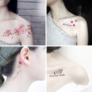 Tattoo waterproof female Korean small fresh art really lasting anti students ankle arm tattoo of clavicle