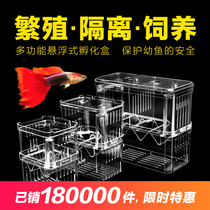 Fish tank isolation box peacock fish hatching box tropical fish small fish larvae hatching box oversized large size independent