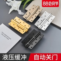 Good hydraulic hinge invisible door buffer positioning hinge spring 6 inch hinge automatic closing door device one price