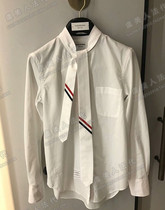 Shopping Thom Browne spring and summer TB shirt college style tie striped white long sleeve shirt female