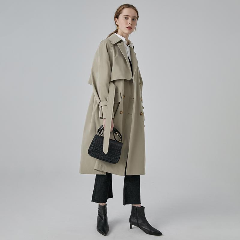 FanLo 2021 spring new French windbreaker womens medium-length British style thin temperament small coat coat