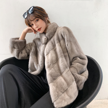 2020 imported velvet mink coat short mink fur coat female whole mink new heining Fur Winter